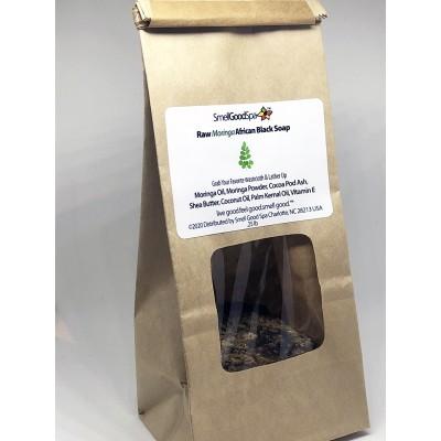 Raw Moringa African Black Soap Sample